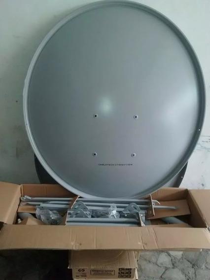 1 Antenas De 90 Cm Reforcada Com Lnb Simples