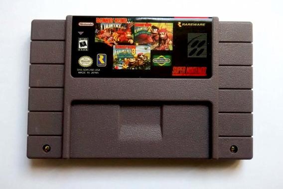Fita Trilogia Donkey Kong 1 2 3 Special Edition Bateria Snes