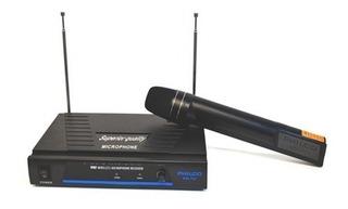 Micrófono Karaoke Inalambrico Vhf Antena Wm700 Proglobal
