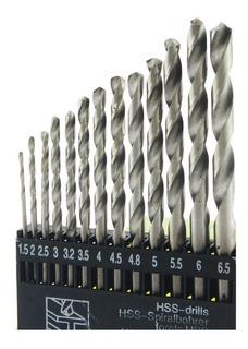 Jogo De Broca Para Metal Com 13 Peças Aço Rápido 1.5 - 6.5mm