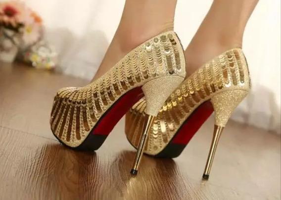Sapato Feminino Importado Salto 14cm Importado- Frete Grátis