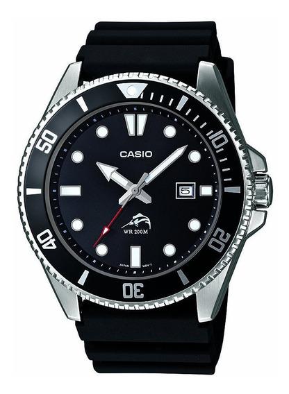 Reloj Casio Caballero Marlin Duro Mdv 106 Bisel Giratorio Acero Fechador Sumergible 200 M