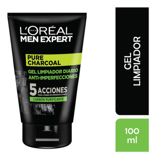 Gel Limpieza Facial Loreal Men Expert ,pure Charcoal, 100ml