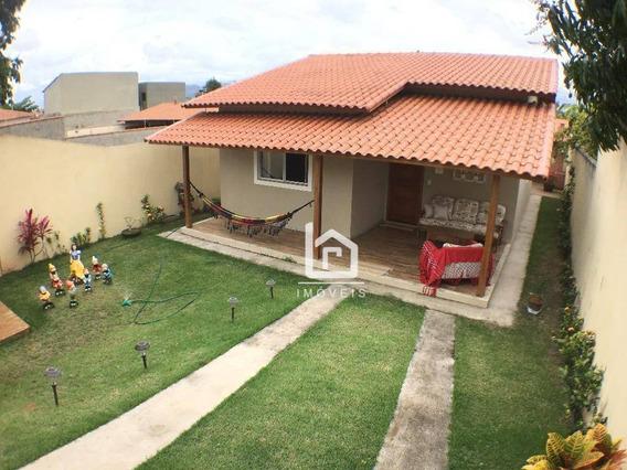 Linda Casa Com 3 Quartos Em Condomínio Fechado Com Lazer Completo Em Guarapari - Ca0010