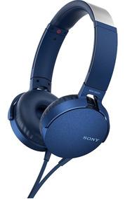 Fone De Ouvido Sony Com Microfone Bass Mdr Xb550 Azul