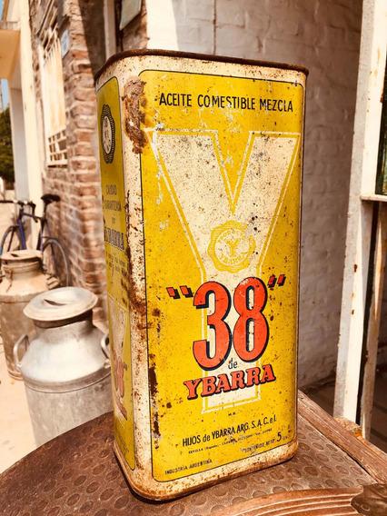 Antigua Lata De Aceite Comestible 38 Ybarra Litografíada