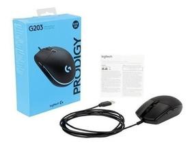 Mouse Logitech G203 Prodigy 8000dpi Rgb Gamer 6 Botões Jogo