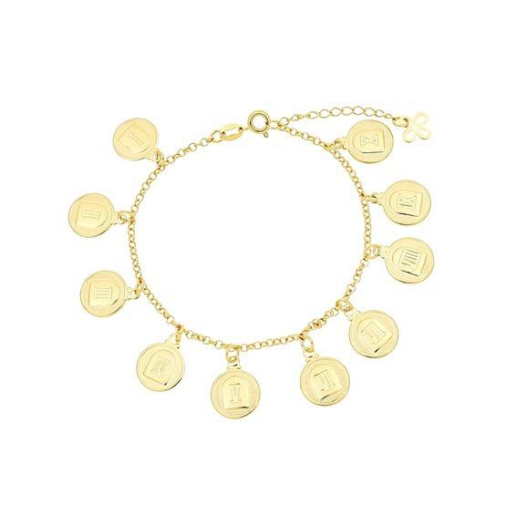 Pulseira Folheada Ouro,medalhas 10 Mandamentos Valor $79,90.