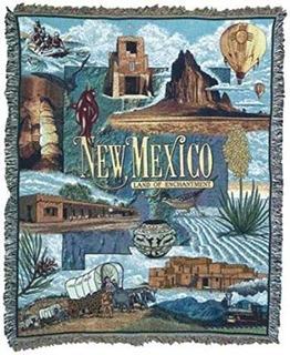 Nuevo México Tierra De Encanto Tapiz Manta 50 X 60