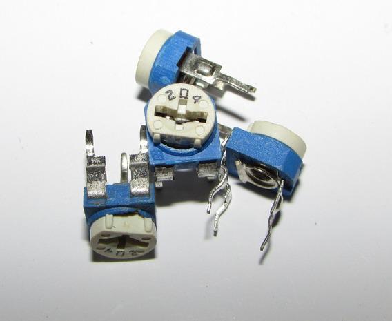 100x 106898 - Trimpot 3318f 200k Ohms (204) Zx
