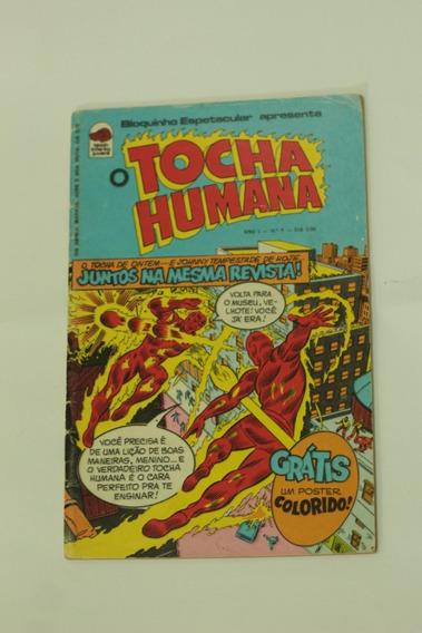 Hq O Tocha Humana Ano 1 N°1 Editora Bloch Gibi Raro 1975