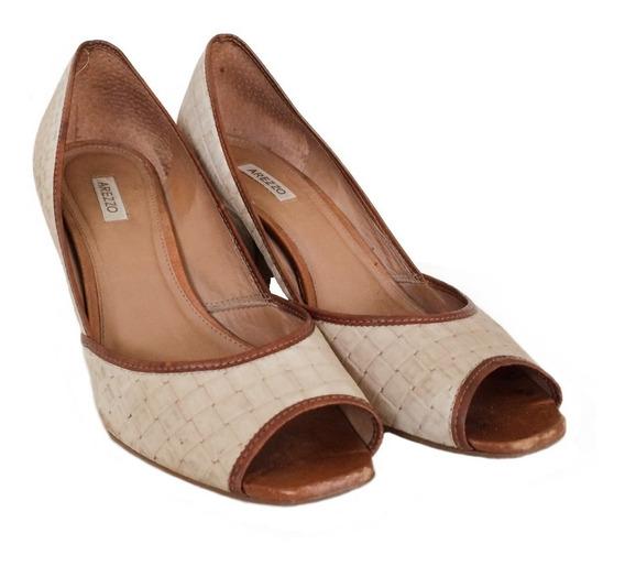 Sapato Salto Baixo Nude Arezzo