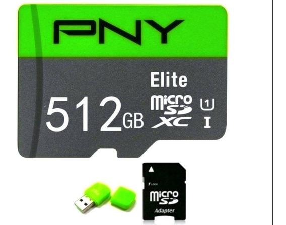 Cartao De Memória Sd 512gb Pny + Adaptadores