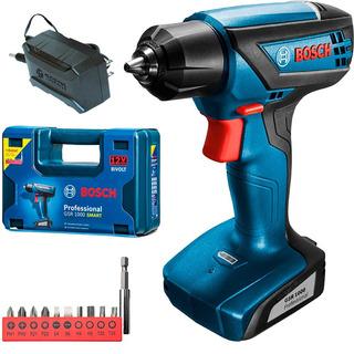 Taladro Atornillador Bosch Gsr 1000 Smart Inalambrico Bateria 12v Litio Maletin Accesorios + Regalo Madera Acero Durlock