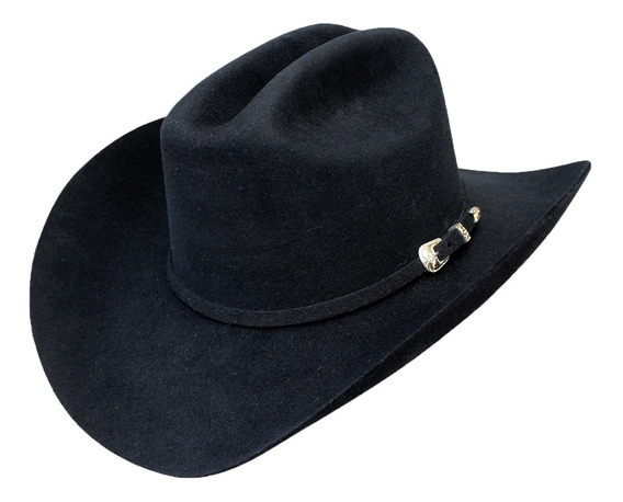 Sombrero Texana Goldstone Negro Sonora 100% Pelo De Conejo