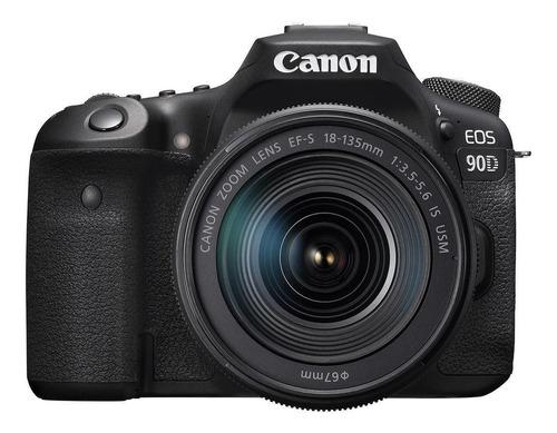 Imagen 1 de 5 de Canon EOS Kit 90D + lente 18-135mm IS USM DSLR color  negro