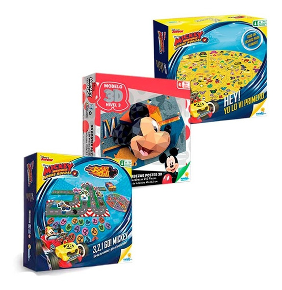 Oferta 40: 321 Go Mickey + Hey Disney Junior + Rompe 250 Pza