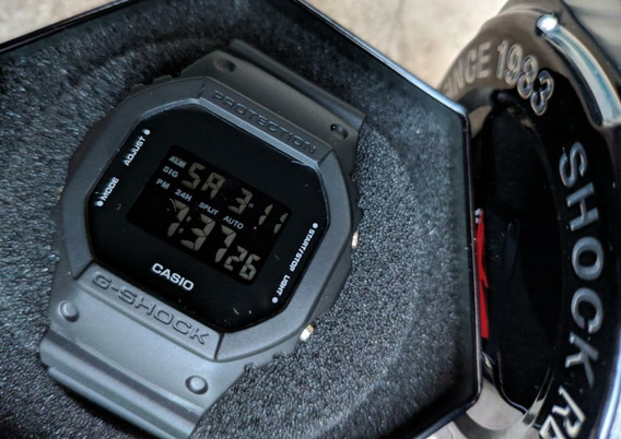 Casio G-shock Dw5600bb-1jf Primeira Linha + Lata G-shock