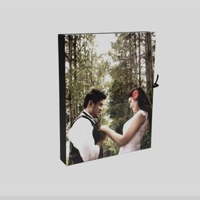 Caixa De Madeira P/ Álbum Fotográfico Personalizada 25x25