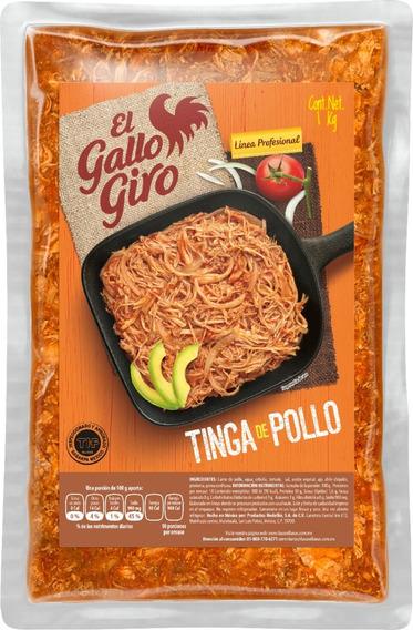 Tinga De Pollo, Two Pack, Paquete Con Dos Bolsas De Un Kilo