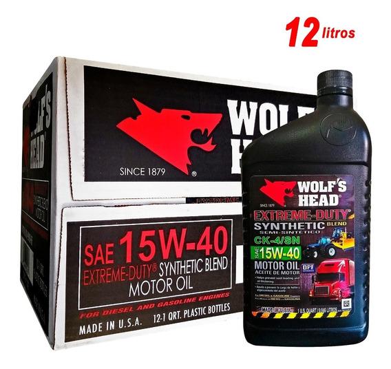 Aceite 15w40 Semisintetico Wolf´s Head Sellado Americano Usa