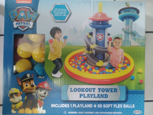 Paw Patrol Torre De Juegos Con 50 Pelotas Jakks Pacific