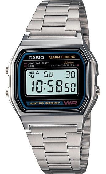 Relógio Casio Original Digital A158wa-1df Com Nota Fiscal