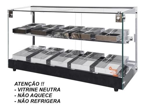Vitrine Neutra - Marca Omega - Vidro Plano  Dupla 77 Cm