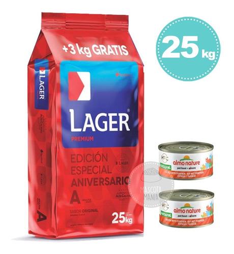Imagen 1 de 2 de Lager Perro 22kg + 3kg Gratis (25kg) + Regalos + Env