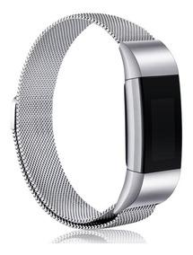 Pulseira De Aço Milanese Para Fitbit Charge 2