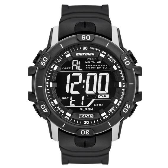 Relógio Mormaii Masculino Acqua Prata E Preto Mo3690aa/8c