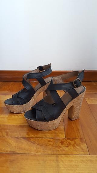Sandalias Con Plataforma Corcho Febo
