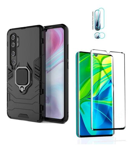 Estuche Xiaomi Mi Note 10 + Vidrio Templado + Vidrio Camara