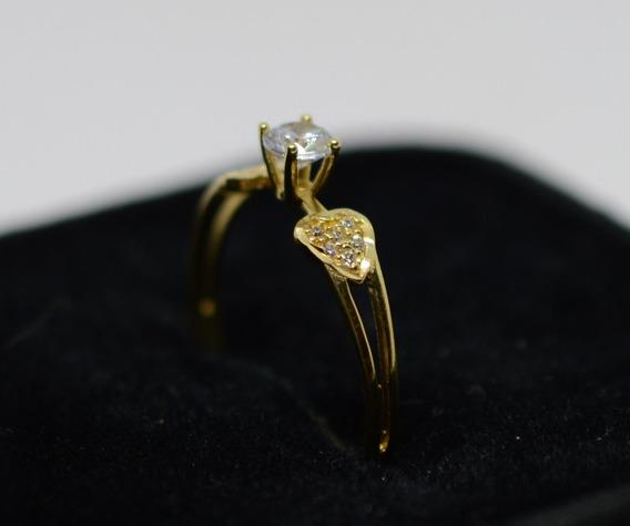 Anel Solitário Ouro 18k 750
