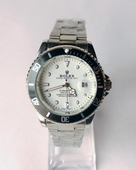Relógio Rolex Submariner Prata Model No2128 C/ Caixa Acrilic