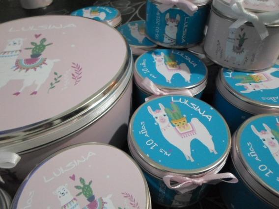 Pack 25 Latas+jabon+toalla+central,souvenirs Personalizados