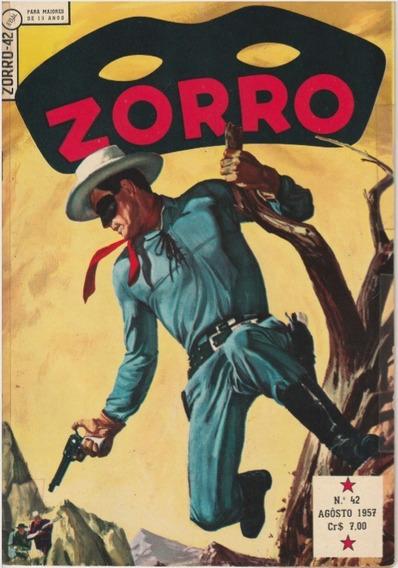 Zorro N.°42 Agosto 1957 Ebal Jm.gibis-raros