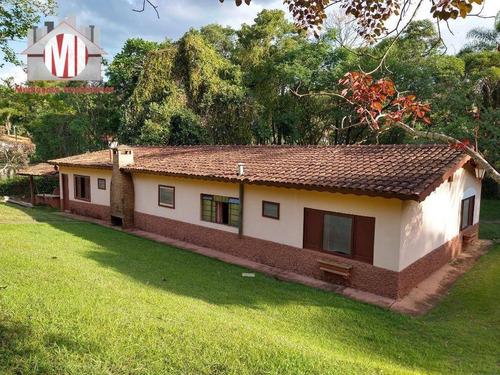 Excelente Chácara Com 5 Dormitórios, Campinho, Piscina, Pomar, Lago, Córrego, Ótima Localização, À Venda, 6000 M² Por R$ 610.000 - Rural - Socorro/sp - Ch0801