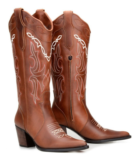 Bota Feminina Country Texana -anaconda- Capelli Boots