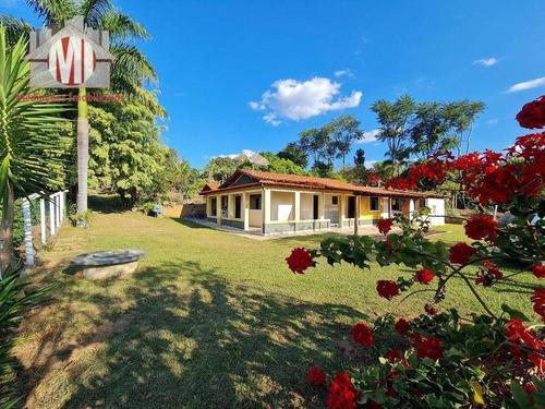 Imagem 1 de 30 de Ótima Chácara, Com 3 Dormitórios, Campinho De Futebol, Pomar, Horta, Bem Localizada, À Venda, 4400 M² Por R$ 360.000 - Rural - Socorro/sp - Ch0972
