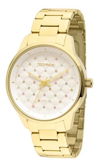 Relógio Technos Feminino Analógico Dourado 2035lxu/4k