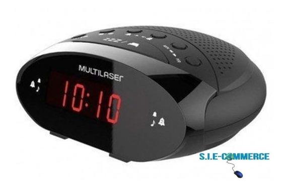 Radio Relogio Digital Eletrico Despertador Alarme Multilaser