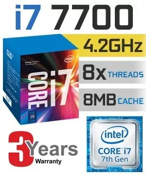 Kit Intel 7ª Geração I7 7700, 8gb Ddr4 2400mhz, Asus B250m