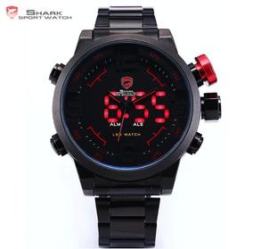 Relógio De Pulso Masculino Aço Inoxidável Importado Digital