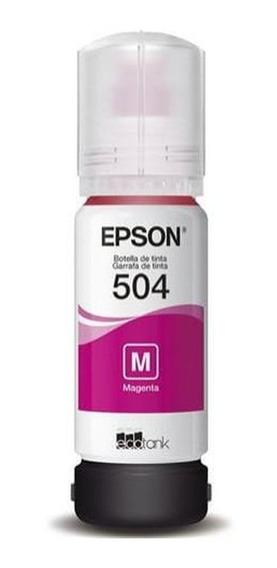 Refil Tanque De Tinta Epson T504 Magenta L4150/60/617 T50432