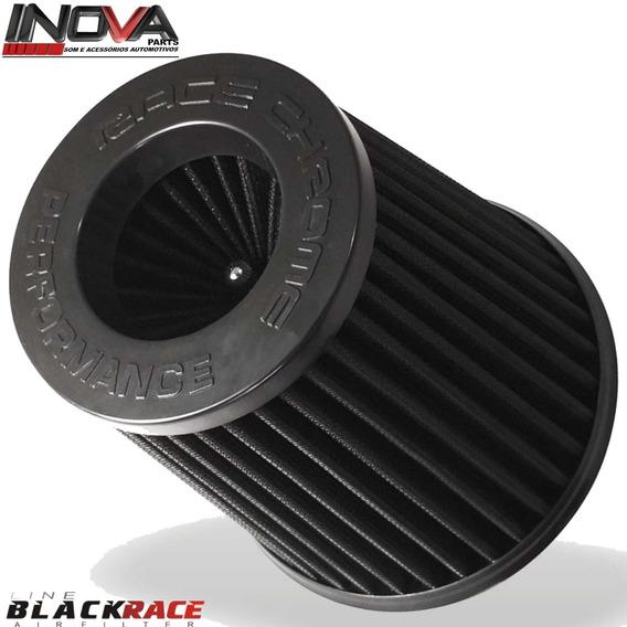 Filtro De Ar Esportivo Duplo Fluxo Race Chrome Black Race Corsa Vectra Astra Celta Vw Gol Saveiro Parati Golf