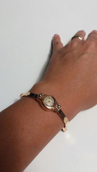 Relógio Em Ouro Maciço Marca Eliz