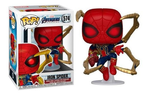 Funko Pop Iron Spider Spiderman 574 Endgame Caja Maltrada