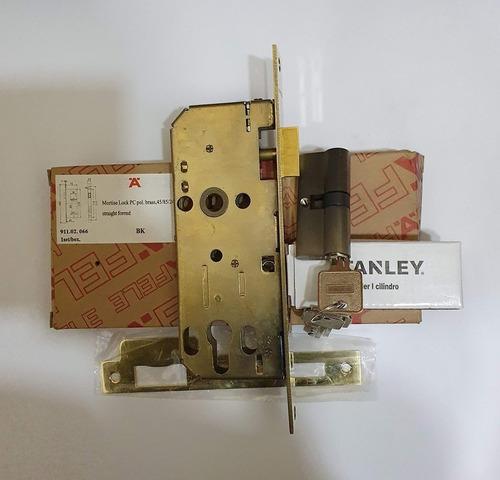 Cerradura Hafele Mortise Con Cilindro Stanley Euro-oferta