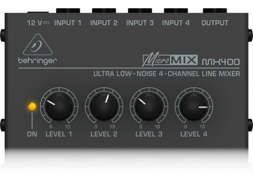 Micro Mezcladora Mixer Behringer Micromix Mx400 + Garantía